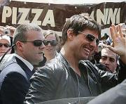 Tom Cruise na estreia do filme Missão Impossível  III